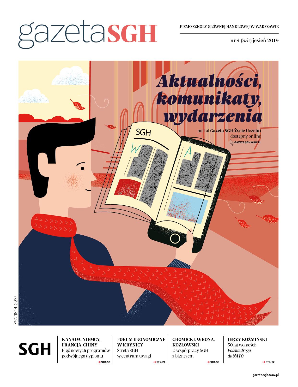 Okładka Gazeta SGH jesień 2019