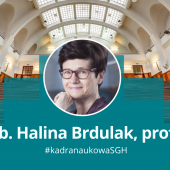 Na kolorowym zdjęciu prof. Halina Brdulak