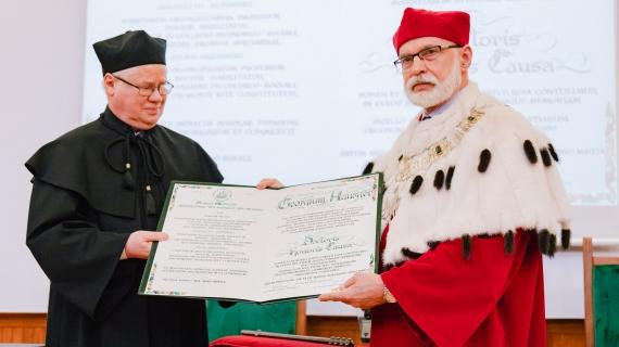 Doktorat honoris causa dla prof. Jerzego Hausnera